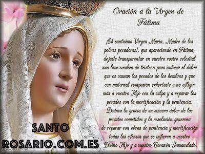 Oración de Fatima