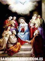 Tercer Misterio Glorioso: La venida del Espíritu Santo