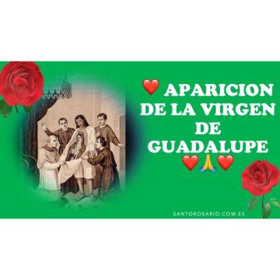 ANÓNIMO, CUARTA APARICIÓN, LITOGRAFÍA EN ÁLBUM GUADALUPANO, MÉXICO, DEBRAY EDITORES, 1855.